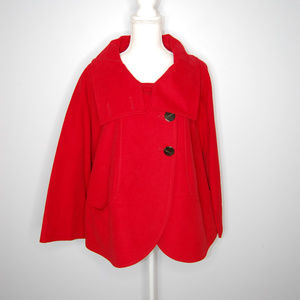 {ZARA} Short Cape Coat w/High Button Collar